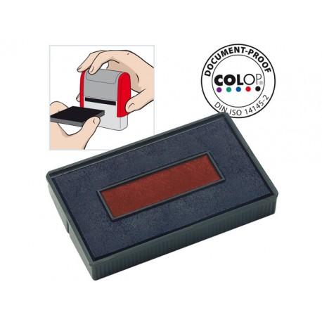 Inktkussen Colop E/200/2 rood/blauw/pak2
