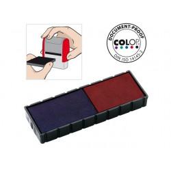 Inktkussen Colop E/12/2 rood/blauw/pak 2