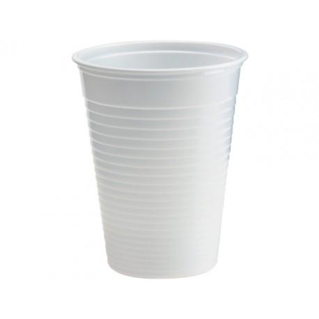 Drinkbeker kunststof 180cc wit/ds20x100