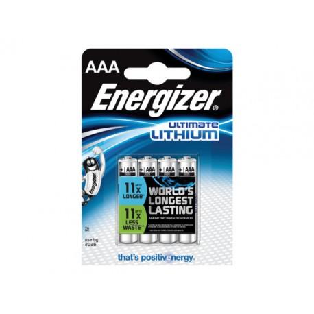 Batterij Energizer Ultimate Lith AAA/pk4