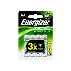 Batterij Energizer oplaad AA 2000mAh/pk4