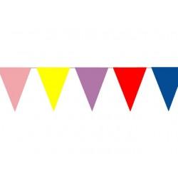 Vlaggenlijn PE 20 meter assorti kleuren