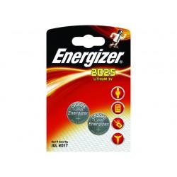 Batterij Energizer knoopcel CR2025/pak 2