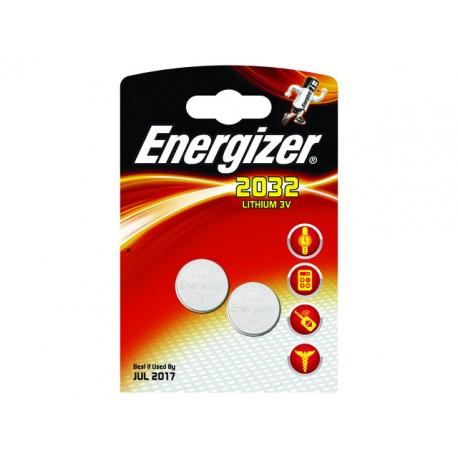 Batterij Energizer knoopcel CR2032/pak 2