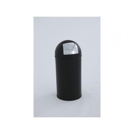 Afvalbak Pushcan 40L h74cm mat/zwart