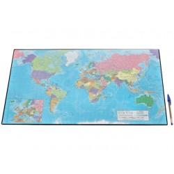 Bureaulegger SPLS wereldkaart 41x62,5cm