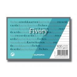Systeemkaart Aurora 100x150 wit/pak 100