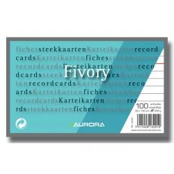 Systeemkaart Aurora 80x130 wit/pak 100