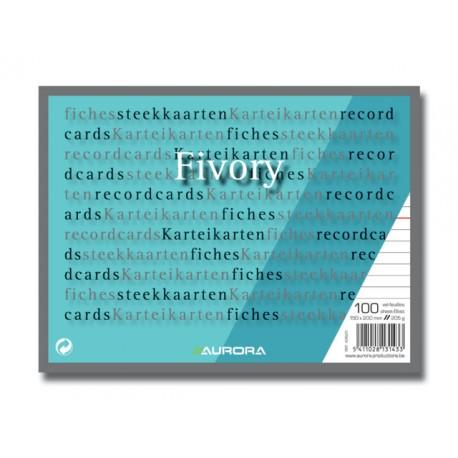 Systeemkaart Aurora 150x200 wit/pak 100