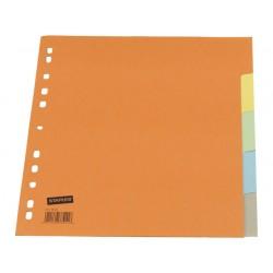 Tabblad SPLS A4 11R karton 5-kleur/set 5