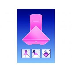 Paperclip Deltaclip Color karton roze/50