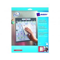 Etiket Avery 254x254 w&w kalender/pk4v