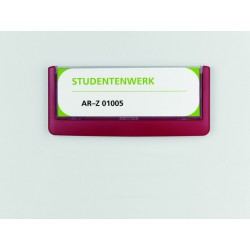 Deurbord Click sign 149x52,5mm rood