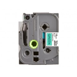 Tape P-Touch TZE-741 18mm zwart op groen