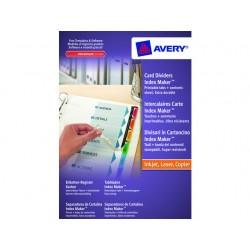 Tabblad Avery A4 9R Indexmaker kleur/se6