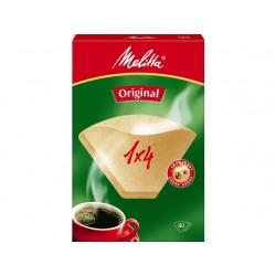 Koffiefilter Melitta 1x4 natuur/ds 80st