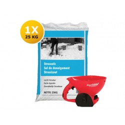 Strooizout a 25 kg & handstrooier rood