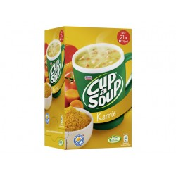 Soep Cup-a-soup Unox kerrie/doos 21