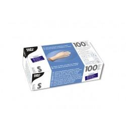 Handschoen Papstar latex ongep. S pk/100