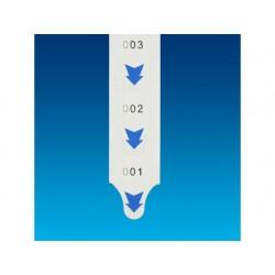 Nummeretiketrol 2000 nrs. blauw ds/20