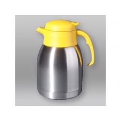Isoleerkan rvs met drukknop 1,5L geel