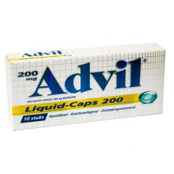 Ibuprofen Advil liquid caps 200mg pk/10