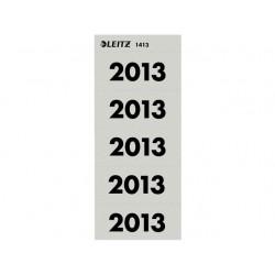 Jaaretiket Leitz 2013 grijs /pak 100