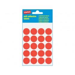 Etiket SPLS 19mm rond rood/pk 100