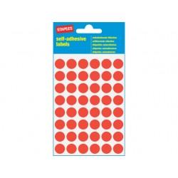 Etiket SPLS 12mm rond rood/pk 240