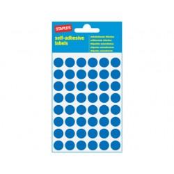 Etiket SPLS 12mm rond blauw/pk 240
