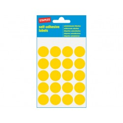 Etiket SPLS 19mm rond geel/pk 100