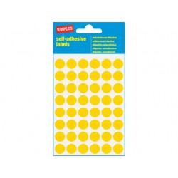Etiket SPLS 12mm rond geel/pk 240