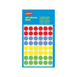 Etiket SPLS 12mm 4 kleuren assorti/pk288