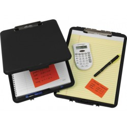 Klembordkoffer SLim A4 + opbergvak zwart