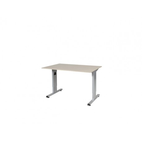 staples bureautafel contesse 120x80 l eiken alu. Black Bedroom Furniture Sets. Home Design Ideas