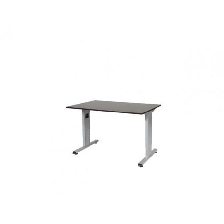staples bureautafel contesse 120x80 weng alu. Black Bedroom Furniture Sets. Home Design Ideas