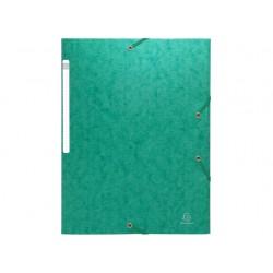 Elastomap Exacompta 3-fl 600g groen/pk25
