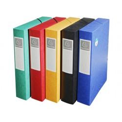 Dossierbox Exacompta NF A4 60mm ass/pk10