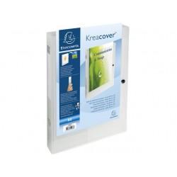 Dossierbox KC A4 40mm PP tr.wit/pak 5