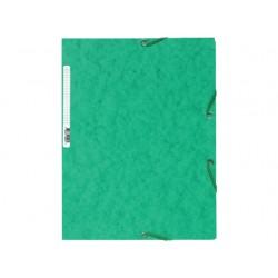 Elastomap Exacompta 3-fl 400g groen/pk25