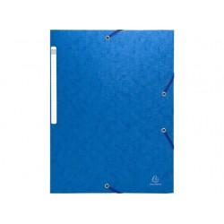 Elastomap Exacompta 3-fl 600g blauw/pk25