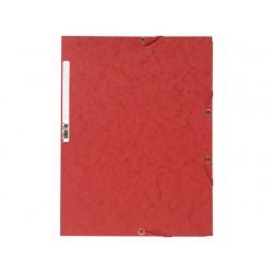 Elastomap Exacompta 3-fl 400g rood/pk25