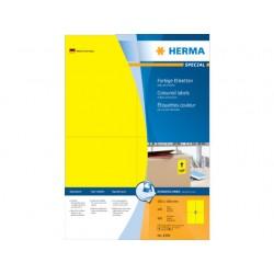 Etiket ILC 105x148 geel/pak 400