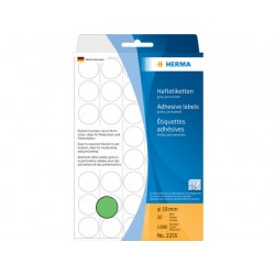 Etiket Herma 19mm rond groen/pak 1280
