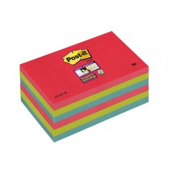 Notitieblok Super Sticky 76x127 neon/pk6