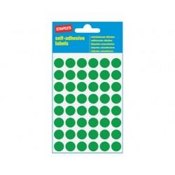 Etiket SPLS 12mm rond groen/pk 240