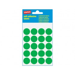 Etiket SPLS 19mm rond groen/pk 100