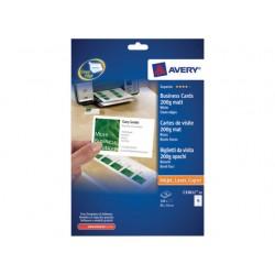 Visitekaart Avery I 85x54 200g mat/pk100