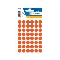 Etiket Herma 12mm rond rood/pk 240