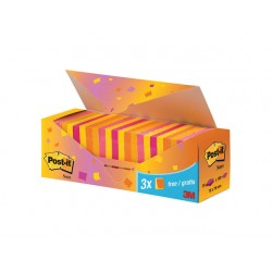 Notitieblok Post-It Neon 76x76/pk 24x100